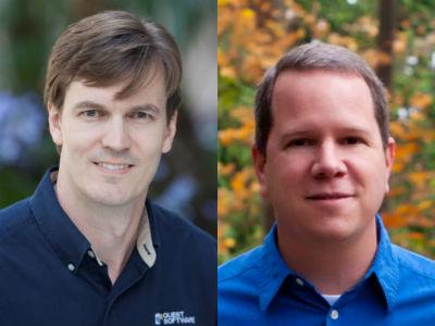 Bill Evans (left) and Tim Sedlack (right) of Dell Software.