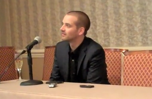 Barnaby Jack speaks at a press conference following his talk at Black Hat 2010.