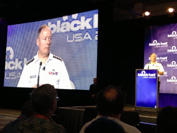 Gen. Keith Alexander at the Black Hat 2013 conference in Las Vegas, Nevada.