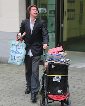 Lauri Love outside Westminster Magistrates' Court