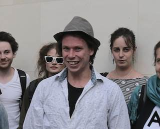 Lauri Love outside Westminster Magistrates' Court yesterday (pic: Tom Reeve/SCMagazineUK.com)