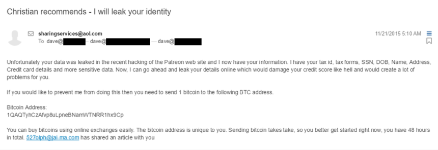 patreon leak bitcoins