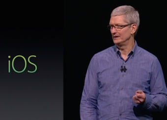 Apple's Tim Cook at WWDC 2016