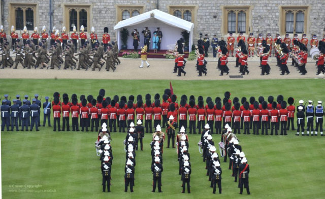 UK soldiers on parade