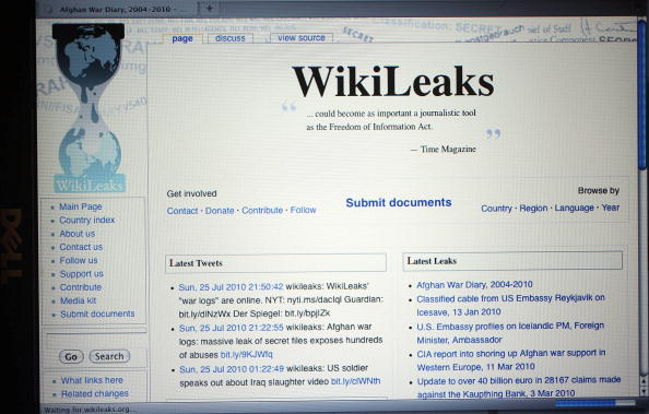 WikiLeaks requests information on staffers search warrant data requests